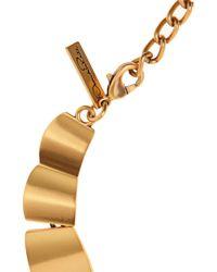 Oscar de la Renta - Metallic 22Karat Gold Plated Bib Necklace - Lyst