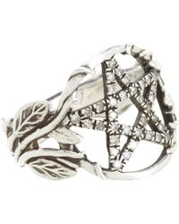 Pamela Love | Metallic Champagne Diamond Pentagram Ring | Lyst