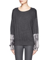 Raquel Allegra | Gray Drop-shoulder Tie-dyed Sleeve Pullover | Lyst