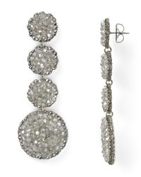 Roni Blanshay | Metallic Linear Earrings | Lyst
