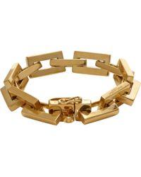 Saint Laurent - Metallic Babylone Art Deco Bracelet - Lyst
