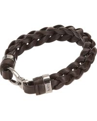 Tod's | Brown Charly Big Braid Bracelet for Men | Lyst