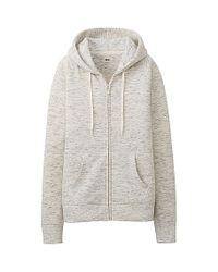 Uniqlo - Gray Sweat Long Sleeve Fullzip Hoodie - Lyst