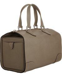 Valextra   Brown Medium Boston Bag   Lyst