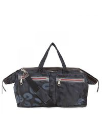 Vivienne Westwood - Blue Logo Print Canvas Weekend Bag for Men - Lyst