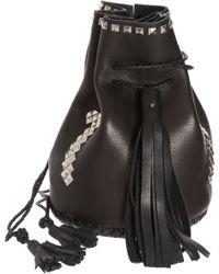 Wendy Nichol - Black Studded Cross Bullet Bag - Lyst
