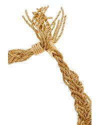 Aurelie Bidermann - Metallic Miki Gold Braided Necklace - Lyst