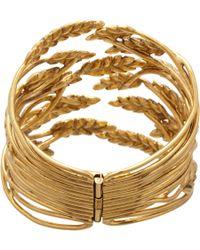 Aurelie Bidermann - Metallic Gold Wheat Cuff - Lyst