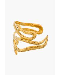 Aurelie Bidermann | Metallic Gold Plated Wild West Mamba Cuff | Lyst