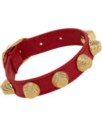 Balenciaga | Red Arena Giant All Stud Bracelet | Lyst