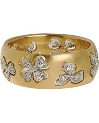 Cathy Waterman - Yellow Diamond Floating Lights Wildflower Ring - Lyst