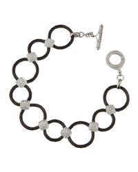 Charriol | Black Diamondstation Cablelink Bracelet | Lyst