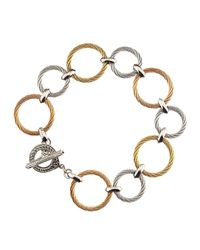 Charriol | Metallic Tricolor Cablelink Bracelet | Lyst