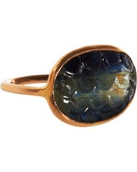 Dezso by Sara Beltran | Metallic Kyanite Open Water Ring | Lyst