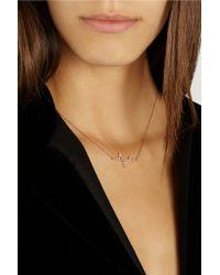 Diane Kordas | Pink Heartbeat 18-Karat Rose Gold Diamond Necklace | Lyst