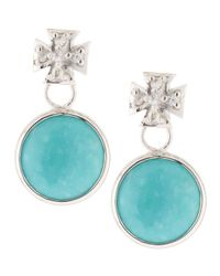 Elizabeth Showers - Blue Maltese Cross & Turquoise Dangle & Drop Earrings - Lyst