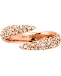 Eva Fehren - Pink Champagne Diamond Wrap Claw Ring - Lyst