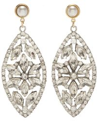 Fenton | Metallic Crystal Regalia Earrings | Lyst