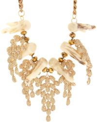 Fenton - Natural Crystal Coral Weeping Collar - Lyst