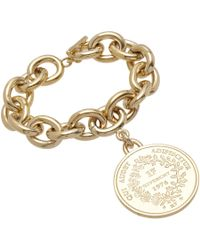 Givenchy | Metallic Pale Gold Small Medallion Bracelet | Lyst