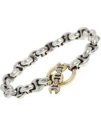 Hoorsenbuhs - Metallic Diamond & Rose Gold Id Bracelet - Lyst