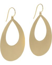 Irene Neuwirth - Yellow Gold Open Teardrop Earrings - Lyst
