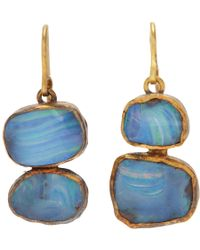 Judy Geib | Blue Opal Double Drop Earrings | Lyst