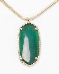 Kendra Scott | Green Emma Necklace 14 | Lyst