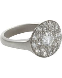 Linda Lee Johnson - Gray Diamond Jubilee Rose Ring for Men - Lyst