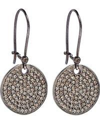 Ileana Makri | Pink Diamond Disc Earrings | Lyst