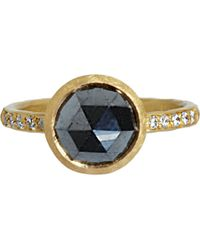 Malcolm Betts - Metallic Black Diamond Solitaire Ring - Lyst