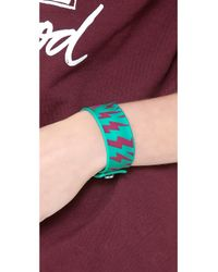 Marc By Marc Jacobs - Green Lightling Bolt Slap Bracelet - Lyst
