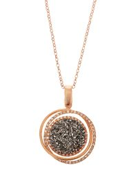 Marcia Moran | Pink Linkedcircle Druzy Pendant Necklace Rose Gold | Lyst