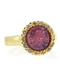 Marcia Moran - Pave Setting Round Druzy Ring Purple Size 7 - Lyst