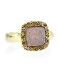 Marcia Moran | Pave Square Druzy Ring Pink Size 7 | Lyst