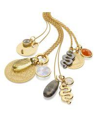 Monica Vinader | Metallic Mini Luna Pendant | Lyst