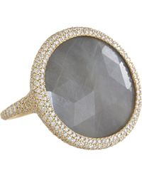 Monique Pean Atelier   Metallic Diamond Grey Sapphire Oval Ring   Lyst