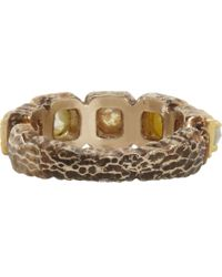 Nak Armstrong | Metallic Rustic Diamond Ring | Lyst
