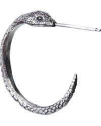 Pamela Love   Metallic Silver Serpent Hoop Earrings   Lyst