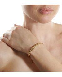 Shamballa Jewels - Metallic Diamond Gold Flat Bead Bracelet - Lyst