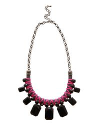 Coast | Black Neon Pink Cord Necklace | Lyst