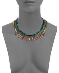 DANNIJO - Multicolor Swarovski Crystal Snake Chain Necklace for Men - Lyst