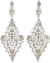 I Am Ileana Makri - White Gold Filigree Diamondshaped Earrings - Lyst