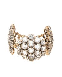 J.Crew | Metallic Crystal Cluster Bracelet | Lyst