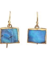 Judy Geib | Blue Opal Rectangular Drop Earrings | Lyst