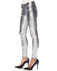 MICHAEL Michael Kors | Metallic Leather Moto Pants | Lyst