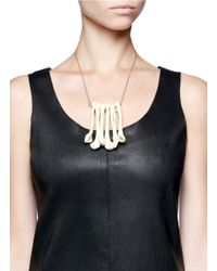 Os Accessories - White Cluster Of Bones Necklace - Lyst