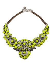 Shourouk - Green Apolonia Necklace - Lyst