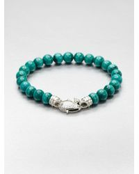 Stephen Webster | Metallic Malachite Beaded Bracelet for Men | Lyst