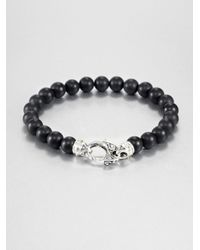 Stephen Webster | Black Malachite Beaded Bracelet for Men | Lyst